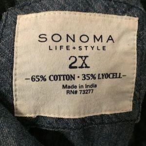 Sonoma Tops - Sonoma denim long sleeve button down